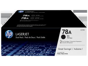 Toner Cartridge HP 78A 2-pack – Black Original (CE278AD)