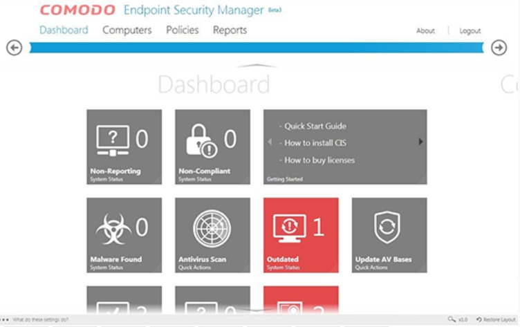 gambar Comodo Endpoint Security Manager