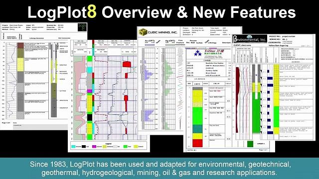 Rockware LogPlot – Striplog, borehole log plotting