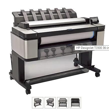 gambar HP Designjet T3500 E-MFP Printer [B9E24A] samping